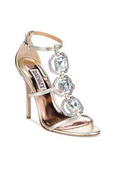 "Brides.com: 31 Sparkly Wedding Shoes ""The Nudist Sandal,"" $398, Stuart WeitzmanPhoto: Courtesy of Stuart Weitzman"