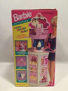 Barbie Dessert Maker Activities Dough  Mattel 1993 #11105 NEW NRFB No Doll #Mattel