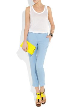 dd pastel punch to your weekend wardrobe with A.L.C.'s sky-blue pants. A tapered leg and cropped cut lend this tailored wool and mohair-blend pair super chic appeal - for a seriously new-season spin, opt for a bright white tank and neon accessories.