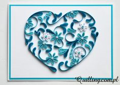 quilling, greeting card, handmade, heart, Quilling.com.pl