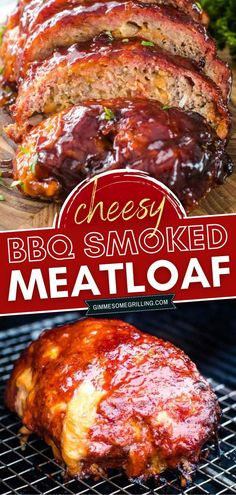 You can't miss this cheesy bbq smoked meatloaf for a delicious summer dinner idea! This smoked meat recipe has so much smoked flavor bursting from it along with a delicious BBQ sauce and it's stuffed with cheese! Save this easy main dish for later! Cube Steak Recipes, Pork Recipes, Smoker Recipes, Yummy Recipes, Traeger Recipes, Hamburger Recipes, Meatloaf Recipes, Side Recipes, Cooking Recipes