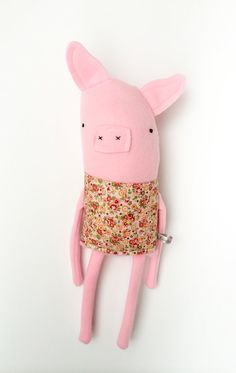 Plush Pig Friend Finkelstein's Center Handmade by finkelsteins, $46.00