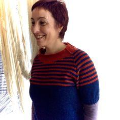 Camisola tricotada pela Oficina das Malhas em Ofélia.  #lojaovelhanegra #ovelhanegrayarns #ovelhanegraofelia