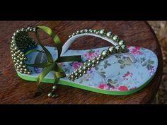 Como fazer sandália de perola em chinelo customizado! - YouTube