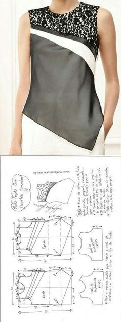 Amazing Sewing Patterns Clone Your Clothes Ideas. Enchanting Sewing Patterns Clone Your Clothes Ideas. Blouse Patterns, Clothing Patterns, Blouse Designs, Sewing Patterns, Sewing Ideas, Fashion Sewing, Diy Fashion, Costura Fashion, Sewing Blouses