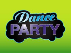 """Text art vector design for parties and nightclubs. Abstract dark cloud shape with text reading """"dance party"""". Text art layout with different colors and fonts. Free vector image to decorate party posters, event invitations, disco flyers, club adverts and wallpapers. Sticker for party, dance and club designs. Dance Icons by LogoOpenStock.com"""