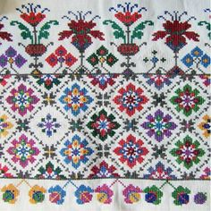 Вишиванка Cross Stitch Borders, Cross Stitch Samplers, Cross Stitch Patterns, Folk Embroidery, Cross Stitch Embroidery, Embroidery Patterns, Palestinian Embroidery, Swedish Weaving, Knit Or Crochet