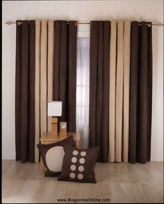 Brown Living Room Curtain Ideas With Ceramic Floor Decor Two Ways Of The Small Red