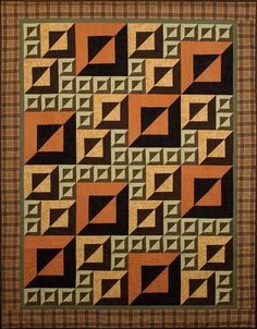 Take your quilting to another dimension with Magic Squares! This pattern is visually intriguing and offers an opportunity to play with colors. To maintain the graphic 3-D optical illusion, the fabrics