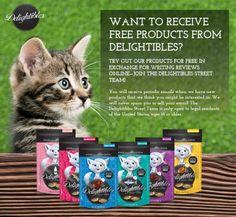 FREE Delightibles Cat Treats - http://getfreesampleswithoutsurveys.com/free-delightibles-cat-treats