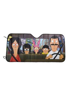 Baby you can chive our car // Bobs Burgers Accordion Sunshade