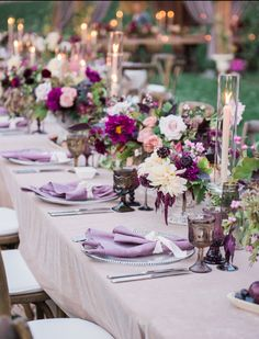 La Tavola Fine Linen Rental: Velvet Pink with Tuscany Rose Napkins | Photography: McCune Photography, Event Design: Inviting Occasions, Event Planning: HS Event Planning