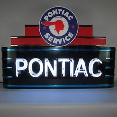 Neonetics Art Deco Marquee Pontiac Neon Sign