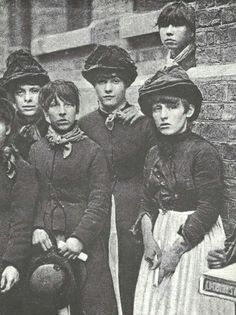 A group of match-girls in 1888, the year the workers at the Bryant & May…