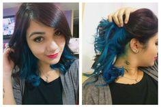 Underlayer hair blue