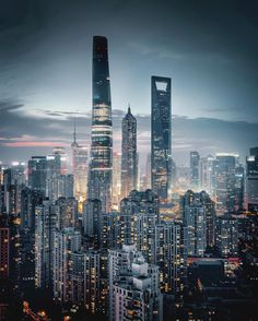 Shanghai by Juampi* Urban Photography, Night Photography, Amazing Photography, Cityscape Photography, Shanghai Skyline, Cities, City Aesthetic, Belle Villa, China Travel