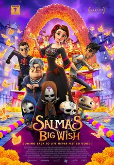 Dia de Muertos In the Mexican town of Santa Clara, lives Salma, a 16 year-old orphan who never got to meet her biological parents. Top Movies, Movies To Watch, Movies Free, Trailer Peliculas, Biological Parents, Audio In, English Movies, Star Cast, Cinema
