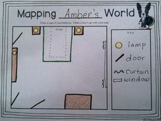 This cute map was made using Mapping Penny's World as a mentor text. A freebie template is available in the blog post!