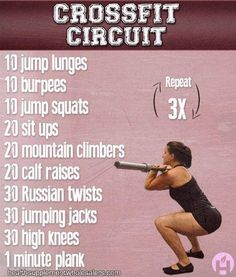 Jumping Lunges CrossFit | CrossFit Circuit - jump lunges, burpees, jump squats, ... | Health