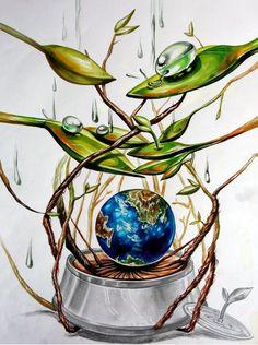 2016 계명대학교 실기대회 수상작/복현 창조의 아침 : 네이버 블로그 Save Earth Drawing, Nature Drawing, Air Pollution Poster, Pencil Drawings Tumblr, Earth Drawings, Environment Painting, Drawing Competition, Cherry Blossom Art, Flame Art