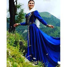 Azerbaijani Woman in traditional Dress from the Azerbaijan Province of Iran.