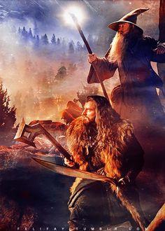 Thorin and Gandalf ILOVETHIS