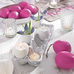 Diese süße Osterdeko findest Du bei Impressionen #ostern #deko #impressionen
