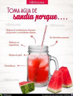 Hábitos Health Coaching | Toma agua de sandía…