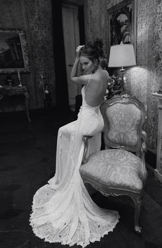 I love the deep back of this dress