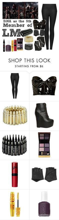 """""""The 5th member of Little Mix: DNA"""" by frkrjec ❤ liked on Polyvore featuring Topshop, Bullet, Jeffrey Campbell, Tom Ford, Rimmel, Karl Lagerfeld, Maybelline and Essie"""