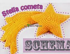 Come fare una strega amigurumi. Crochet Bows, Crochet Stars, Crochet Motif, Crochet Patterns, Nativity Star, Diy Nativity, Softie Pattern, Free Pattern, Star Diy