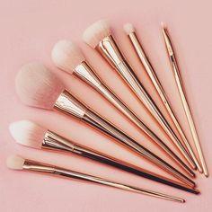 Rosita - Pink to White Ombre Bristles Make-Up Brush Set