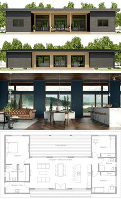 Tiny House Plans 727120302320563898 - Architecture House Plan, Home Plans, Casa Pequena, Planta de Casa Source by fouillaretfrederic Dream House Plans, Small House Plans, Open Plan House, Dog Trot House Plans, Modern Bungalow House Plans, One Floor House Plans, Metal House Plans, Loft Floor Plans, Tiny House Design