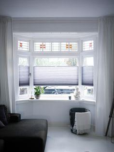 Top down bottom up plisségordijnen - Bauernhaus Diy Ikea Dining Room, My New Room, Bungalow, Bathtub, Windows, Curtains, Interior, Diy, House