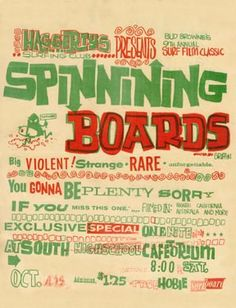 Spinning Boards (poster by Rick Griffin)