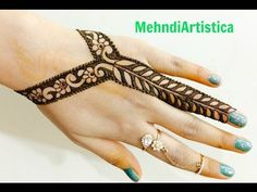 ‪Easy Beautiful Stylist Border Mehndi Designs For Hands:Latest Jewelry Mehendi By MehndiArtistica‬‏ - YouTube