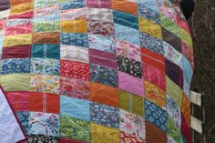 Anna Maria Horner voile patchwork quilt backed with white flannel.  *Soft!*
