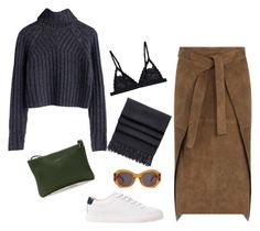 """""""Untitled #430"""" by giuliabardelli ❤ liked on Polyvore featuring Joseph, MANGO, Cosabella, Acne Studios, Karen Walker and Just Campagne"""