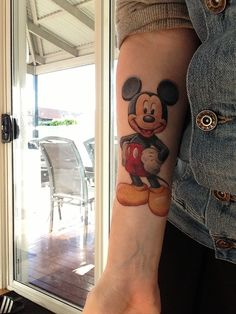 Mickey tattoo, My son would love me forever if I got this tattoo. .