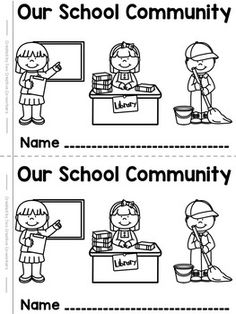 School Community Helpers {printable mini book} -FREEBIE!