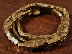 Small  Natural  Brass  Cube  Beads by myperfectbeads on Etsy, $18.00