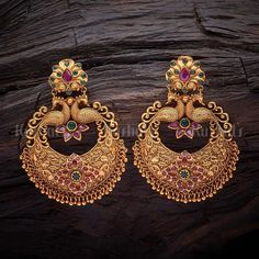 Online Shopping For Fashion, Imitation, Artificial Jewellery For Women Gold Jhumka Earrings, Jewelry Design Earrings, Gold Earrings Designs, Antique Earrings, Indian Earrings, Designer Earrings, Necklace Designs, Indian Jewelry, Ring Designs