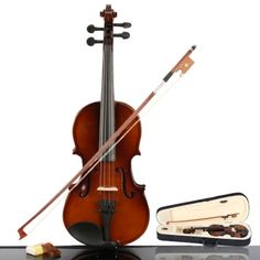 1/4 Natural Acoustic Violin & Case & Bow & Rosin for Children