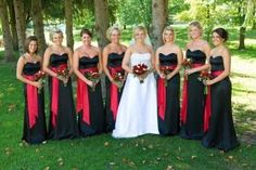 Black With A Red Accent.  Pittsburgh Bride Talk Wedding Forum