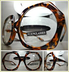ac14a42c9d3a Classic Vintage Retro Style Clear Lens Eye Glasses Unique Tortoise Hexagon  Frame Cat Eye Sunglasses