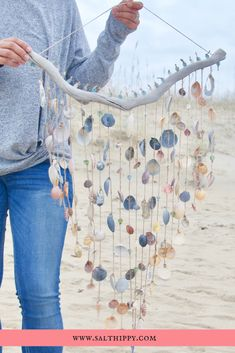 Handmade home decor gives your space a sense of personality, especially when it incorporates persona Seashell Art, Seashell Crafts, Beach Crafts, Diy And Crafts, Seashell Projects, Driftwood Crafts, Coastal Decor, Bohemian Beach Decor, Beach Hippie