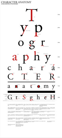 Typography Anatomy Eye Chart
