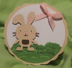 Easter card using 4 Cricut cartridges