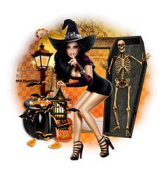"* FTU Kit - ""Halloween Treat"" de Scraps Dimensions * Cluster de moi-même (Jewel) * Masque WSL_Mask362 de Weescotslass Creations * Tu... Halloween Tutorial, Halloween Tags, Halloween Cartoons, Halloween Poster, Halloween Pictures, Fall Halloween, Fantasy Witch, Dark Fantasy Art, Fantasy Girl"