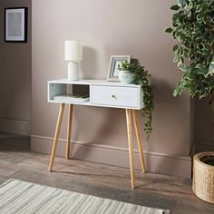Homesavers | BJORN CORNER CONSOLE WHITE Oak Display Cabinet, Hall And Living Room, White Drawers, White Oak, Display Case, Console Table, Corner, Curtains, Bedroom